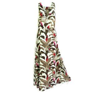 Banana Republic Dress Maxi Lined Fit Flare Floral